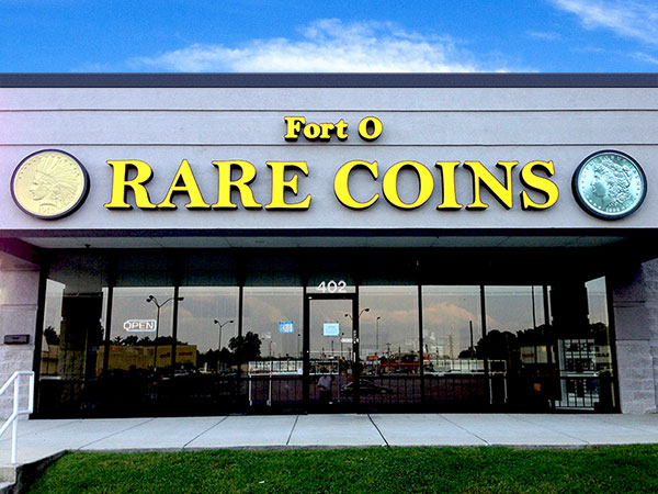 Fort O Rare Coins Store-front photo.